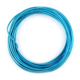 Turquoise Anodized Aluminium Embossed Wire 2mm 5metre Coil
