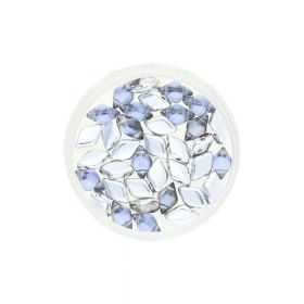 GEMDUO™ / 8x5mm / Backlit / Periwinkle / 5g / ~35pcs