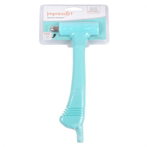 ImpressArt Interchangeable Hammer Tool for 6mm Stamps Includes Texture Stamp Pk1