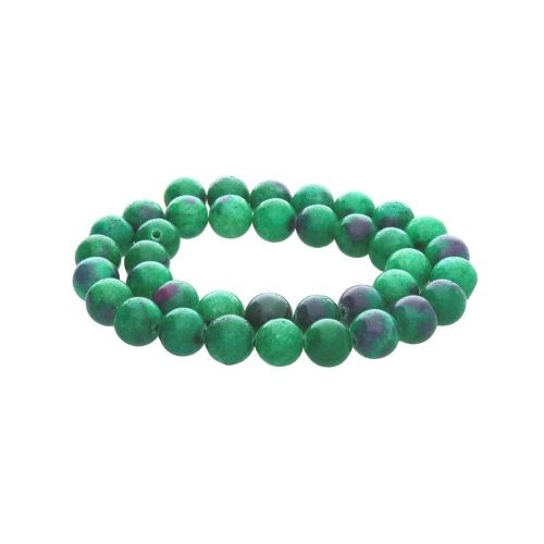 Zoisite with ruby (synthetic) / round / 10mm / 38pcs