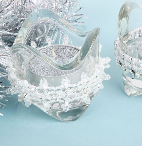 Frosted Tea Light Decoration