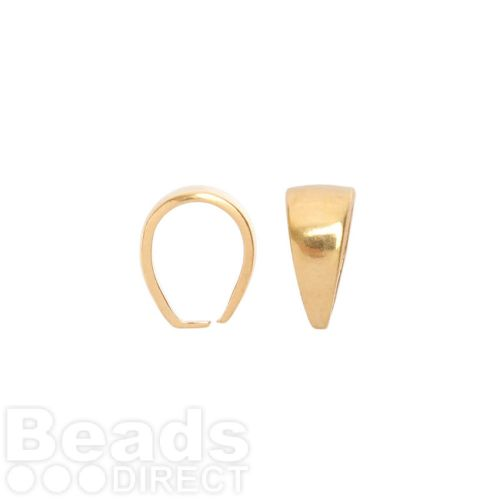 Gold Plated Pinch Pendant Bail 10.8x7.9mm Pk1
