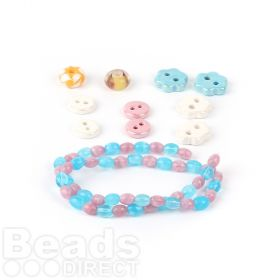 Beads Direct Pink and Cream Beautiful Bead Bundle