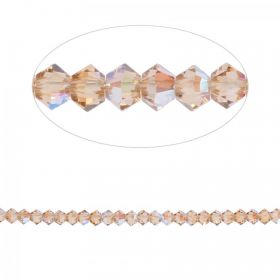 5328 Swarovski Crystal Bicone Beads 3mm Light Colorado Topaz Shimmer Pk24