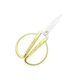 Scissors / surgical steel / 15cm / gilded / 5cm blade / 1pcs