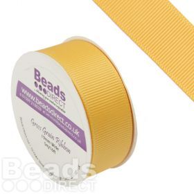 Yellow Gold Grosgrain 19mm Ribbon Sold on a 5 Metre Reel