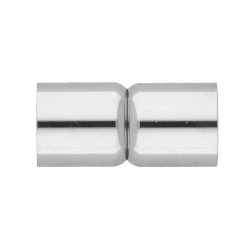 Magnetic clasp / surgical steel / dumbbells / 19x9x9mm / silver / hole 8mm / 1pcs