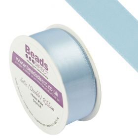 Blue Double Satin Ribbon 19mm Sold on a 5 Metre Reel