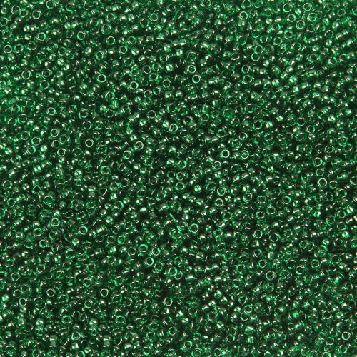 Toho Size 15 Round Seed Beads Transparent Green Emerald 10g 1400pcs