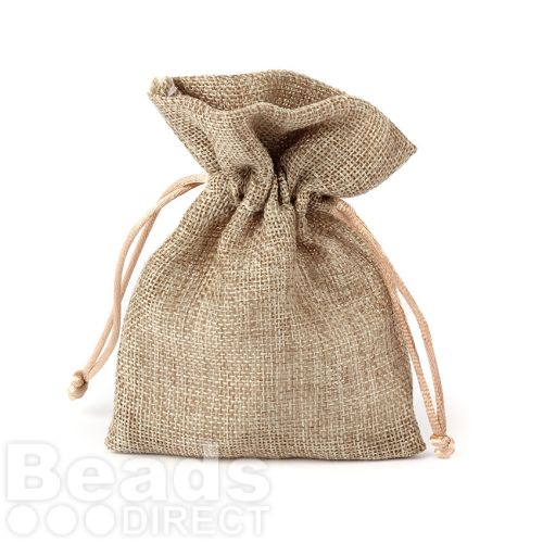 Brown Polyester Jewellery Pouch 100x140mm Pk1
