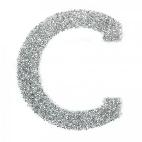 Swarovski Crystal Letter 'C' Self-Adhesive Fabric-It Transparent CAL Pk1