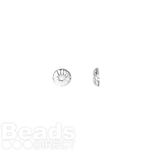 Sterling Silver 925 Bead Caps 6mm Pk10