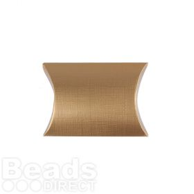 Matte Gold Small Pillow Gift Box 70x70x25mm Pk1