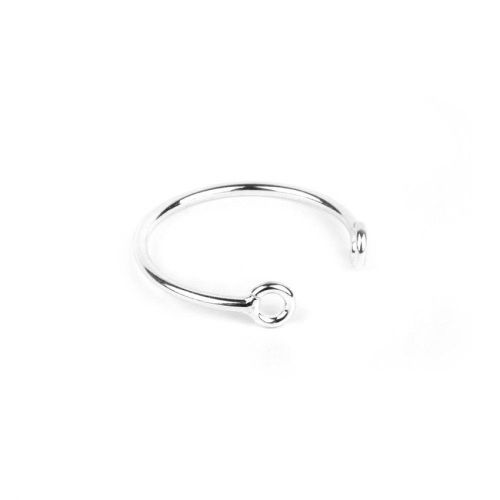 X Sterling Silver 925 2 Hole Ring Base 18mm Pk1