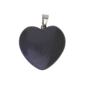 Night Cairo (synthetic) / pendant / heart / 30x25x10mm / 1pcs