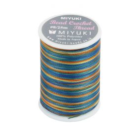Miyuki Bead Crochet Polyester Thread 0.45mm Blue/Yellow Mix 25metres