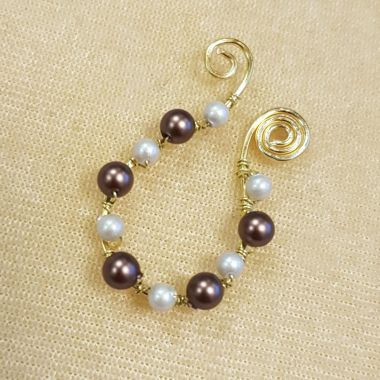 Velvet Pearl Wire Earrings