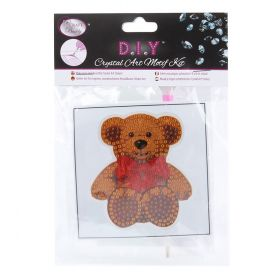 Craft Buddy Crystal Motif Kit 'Teddy Bear' with Tool