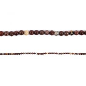 "Red Picture Jasper Round Semi Precious Beads 4mm 15"" Strand"