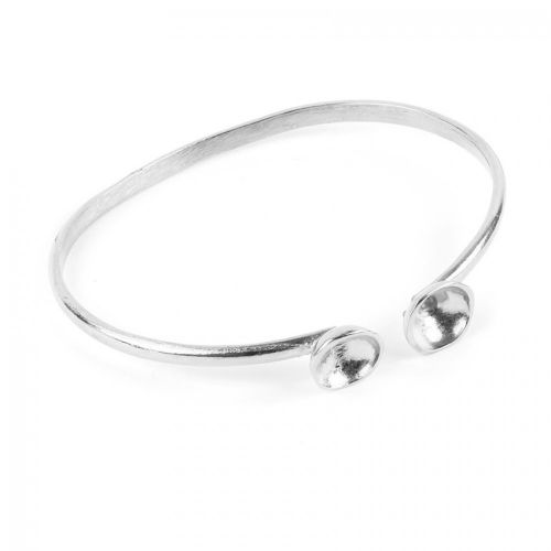 Antique Silver Plated Brass Bangle Base for SS39 60mm Pack 1