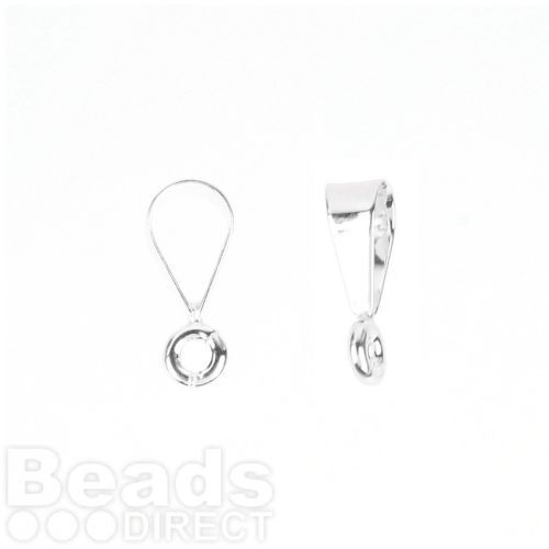 Sterling Silver 925 Large Loop Bail with Ring 4x14mm Pk1