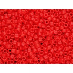 TOHO ™ / Round 11/0 / Transparent Frosted / Lt Siam Ruby / 10g / ~ 1100pcs