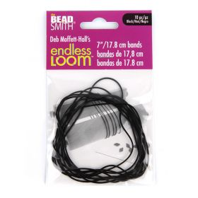 Endless Loom Black Bands for Endless Loom Tool 7inch Pk10
