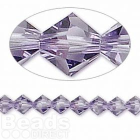 5328 Swarovski Crystal Bicones Xillion 6mm Tanzanite Pk24