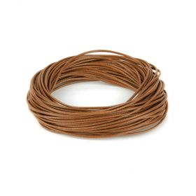 Shiny Coated Braiding Cord 1mm Tan 10m