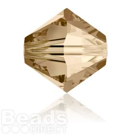 5328 Swarovski Crystal Bicones 8mm Crystal Golden Shadow Pk288