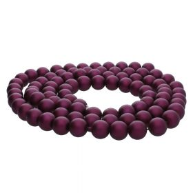 SeaStar™ satin / round / 8mm / purple / 120pcs