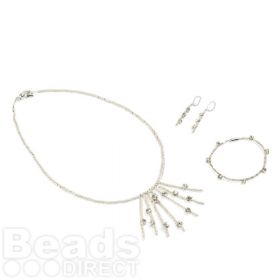 X Kleshna 3 Piece Chaton Set Including Necklace/Bracelet/Earrings
