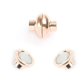 Rose Gold 6mm Magnetic Clasp Pk1