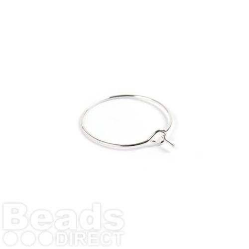 Silver Plated Wine Glass Charm Rings 20mm Pk10