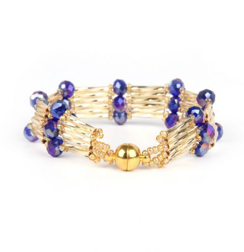 Pharaoh Crystal Step Bracelet