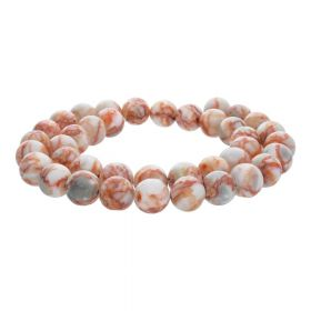 Picasso jasper / round / 12mm / orange-beige / 32pcs