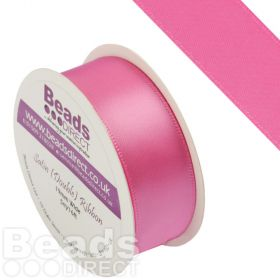 Hot Pink Double Satin Ribbon 19mm Sold on a 5 Metre Reel