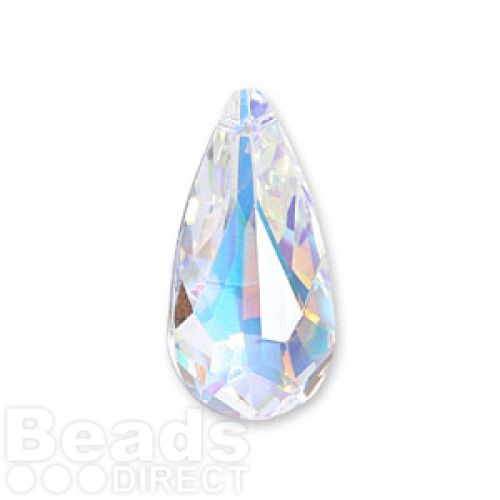 6100 Swarovski Large Drop Pendant 24x12mm Crystal AB Pk1