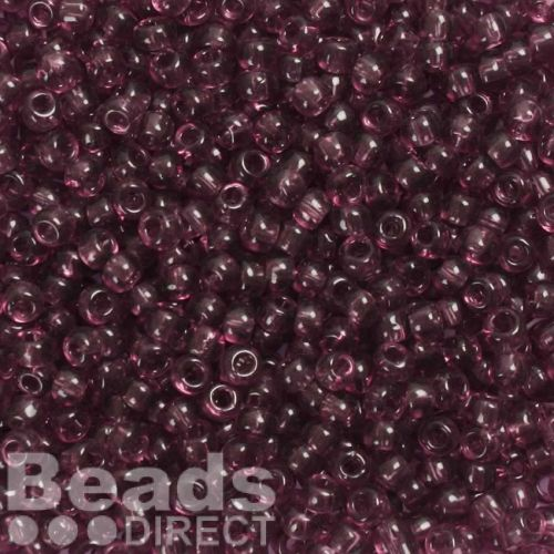 X-Toho Size 6 Round Seed Beads Transparent Med Amethyst 10g