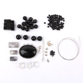 Black and Silver Semi Precious Bundle Kit