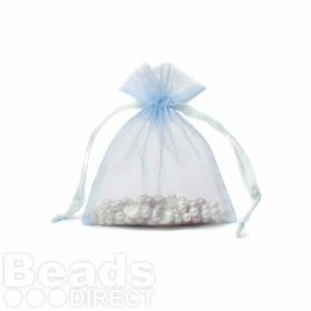 "Turquoise Organza Bag 3""x4"" Pack 5"