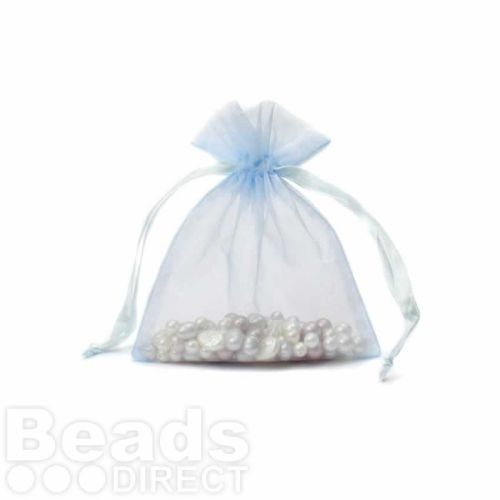 """Turquoise Organza Bag 3""""x4"""" Pack 5"""