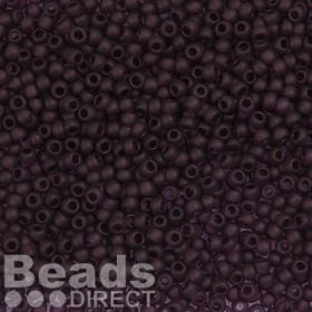 Toho Size 8 Round Seed Beads Transparent-Frosted Amethyst 10g