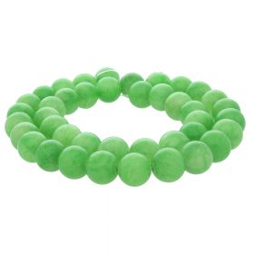 Jade / round / 8mm / bright green / 48pcs