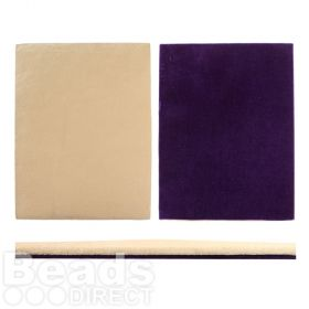 Beads Direct Foam Bead Board Mat in Beige with Purple Underside 40x30cm