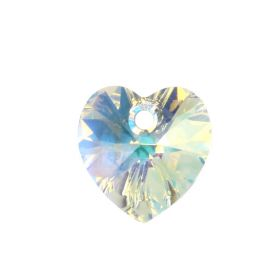 6228 Swarovski Crystal Hearts 10mm Crystal AB Pk2