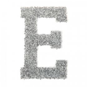 Swarovski Crystal Letter 'E' Self-Adhesive Fabric-It Transparent CAL Pk1