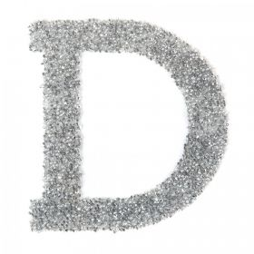 Swarovski Crystal Letter 'D' Self-Adhesive Fabric-It Transparent CAL Pk1