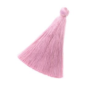 Tassel / viscose thread / 70mm / width 10mm / light pink / 1pcs