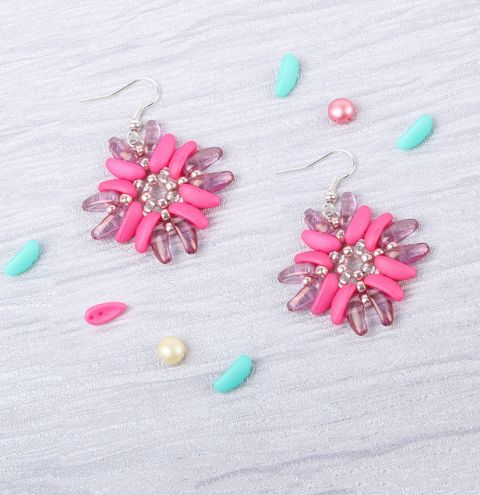 Rose Shield Earrings